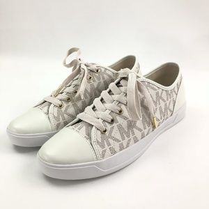 Michael Kors Signature City Sneakers Vanilla White